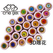 12 Colors CHE 3D Relief Gel UV LED Soak Off Nail Art Builder Manicure Gel Polish