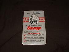 VINTAGE ORIGINAL SAVAGE MODEL 24-MDL ADVERTISEMENT SALE CARD! .22 WMR OVER UNDER