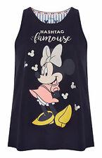 Femmes Disney Minnie Mouse Pyjamas Pj Primark Débardeur Femme Officiel BNWT XL
