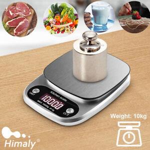 Digitale Küchenwaage Waage 10kg mit hoher Präzision bis zu 1g und Tara Funktion