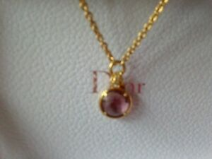 Juicy Couture Pink Gemstone Feather Necklace