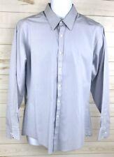 New Van Heusen Men's Dress Shirt Fitted 16 1/2 34/35 Light Blue Broadcloth A4112