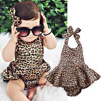 Newborn Kids Toddler Baby Girl Dress Bodysuit Romper Jumpsuit Playsuit Outfits