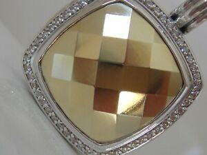 $3150 DAVID YURMAN 18K GOLD SS EXTRA LARGE FACETED GOLD DIAMOND ENHANCER
