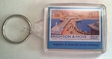 Brighton & Hove for Sunny Holidays Acrylic Keyring Bag Tag Passport size