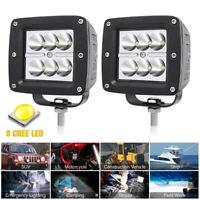 2X CREE LED Work Light Driving Fog Lamp Car Truck SUV OffRoad Spotlight DC12/24V