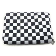 """New ListingLg Black White Checked Zipper Sleeve Bag Case Cover for Laptop 16"""" x 11"""""""