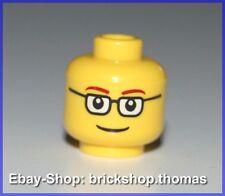 Lego Kopf gelb Mann Brille schlau - Yellow Head glasses - 3626bpb122 - NEU / NEW
