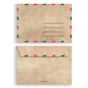 Briefumschläge DIN-C6 - Vintage Retro Briefumschlag Kuvert Motiv