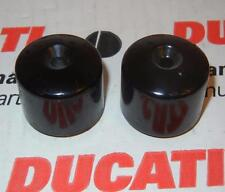 """Ducati & Honda handle bar end weights 6mm hole has 6 ounce weight fits 7/8"""" bars"""