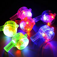 1 Pc Multi Color Flashing LED Whistle Blinking Glow Rock Party  Toys Gifts New