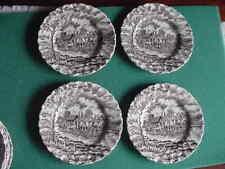 Set of 4 Myott's Brown Royal Mail Staffordshire ,6  inch Bread  Plates, England