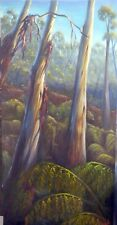 Original Australian Landscape Oil Painting gum trees bush Vidal