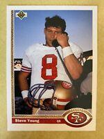 1991 Upper Deck #101 Steve Young San Francisco 49ers HOF -NICE!! -POSSIBLE 10!!!
