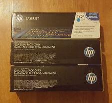 SET OF 2 HP Genuine 125A Black Toner Dual Pack Cyan Laser Jet Factor Sealed