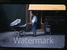 1960 kodachrome  Photo slide  baby carriage  Lancaster England   store