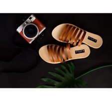 Six Band Sandals - Tan Size 10