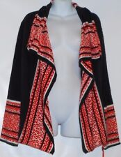 Ruby Rd. Ladies Open Front Long Sleeve Cardigan Sweater Crimmul XL NWT