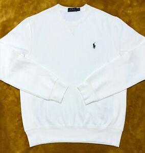 Ralph Lauren Mens Jumper Crew-neck Sweatshirt off  White Fleece M