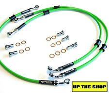 KAWASAKI ZX-6R 2001-03 VENHILL F&R s/steel braided brake line hoses Race