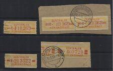 DDR Dienst B 16-17 und 18-19 gestempelt/Briefstücke (B05422)