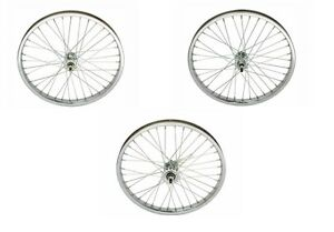 "BICYCLE 20"" x 1.75 STEEL WHEEL 12G HEAVY DUTY SPOKES CRUISER LOWRIDER BMX"