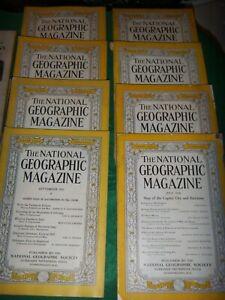 Vintage 1930's Era National Geographic Magazines.. Various 1932-1939
