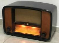 Antique Soviet Tube Radio Resiver VEF Baltika USSR Wooden 1950s rare