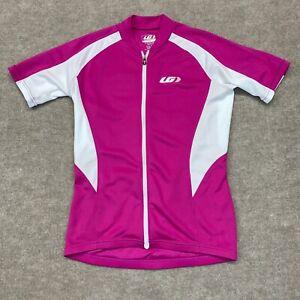 Louis Garneau Women's Cycling Jersey S/P Pink Full Zip Pockets Racing Cycling