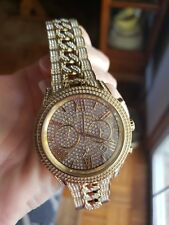 michael kors watch gold with crystals