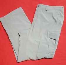 EUC REI Men's Gray Nylon Camping Hiking Cargo Pants Size XXLx32 Long