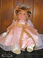 "Lee Middleton Doll ""PRINCESS DIAMOND"" Auburn Hair/Blue Eyes Original Box and COA"
