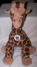 "Build a Bear Giraffe Plush WWF tag 18"" World Wildlife Fund Series Safari"