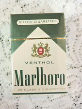 Vintage Marlboro Menthol Filter Cigarette Pack EMPTY Display Only Hard Box