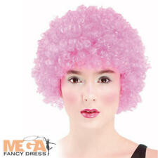 Wear it Pink Afro Wig Adults Clown Fancy Dress Carnival Circus Women Costume Wig