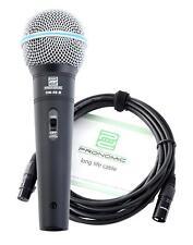 Set De Microphone DJ PA Professionnel Scene Live Chant Voix Cable Connecteur XLR