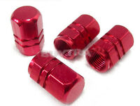 8x Red Wheel Tyre Tire Valve Stems Air Dust Cover Screw Cap For Car Truck Bik_TI