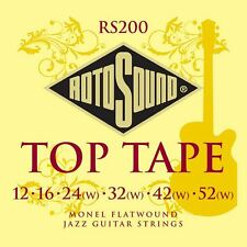 Rotosound RS200 Top Tape Monel Flatwound Electric Guitar Strings 12-52 Gauge