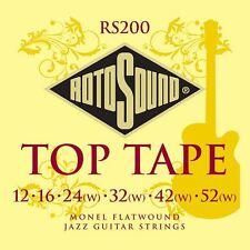 ROTOSOUND rs200 Top MONEL Flatwound Tape le corde per chitarra elettrica 12-52 Gauge