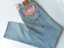 LEVI'S JEANS 501 CT SHORDICH BLEACH DISTRESS BUTTON FLY RIPPED KNEES W33 L34