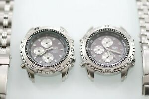 Elgin PQS Solar Watch Men Silver Stainless Steel Water Resist Non-working Parts