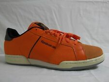 Reebok Size 13 M NPC Orange Black Low Athletic Sneakers New Mens Shoes NWOB