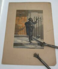 """1853 GEORGE BAXTER Print """"The Morning Call"""" Picturing Chimney Sweep"""