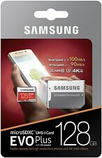 128 GB samsung EVO + MICRO SD MEMORY CARD U3 4K 100MB/s per Sharp cristallo mobile