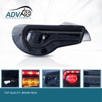 SMOKED LED Tail light Fit For Toyota 86 GTS Subaru BRZ ZN6 Seqnential Blinker