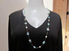Rarities Carol Brodie Ruby Fuchsite, Aqua Chalcedony, Pearl Vermeil Necklace