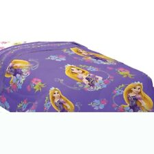 DISNEY TANGLED TWIN COMFORTER - Rapunzel Princess Style Purple Flowers Bedding