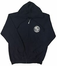 City of Los Angeles DWP Zip Up Sweatshirt Hoodie Navy Small