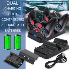 2Rechargeable Battery+Dual Charging Dock Station Controller Charger For Xbox One