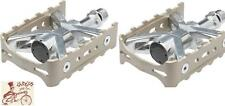 "MKS ESPRIT MOUNTAIN ALLOY SILVER 9/16"" BICYCLE PEDALS--TOE CLIP COMPATIBLE"